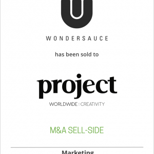 Wondersauce has been sold to Project: Worldwide