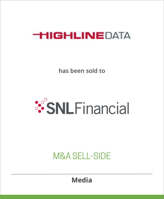 Summit Business Media has sold Highline Data to SNL Financial LC