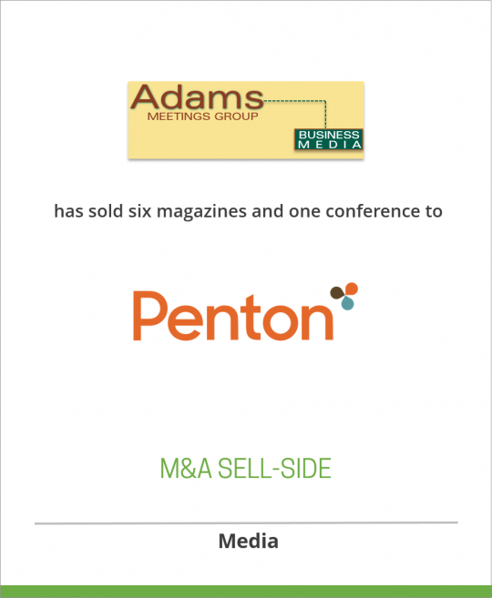 Adams Business Media has sold its Meetings Group of six magazines and one conference to Intertec Publishing, a subsidiary of Primedia, Inc. (Now Penton)