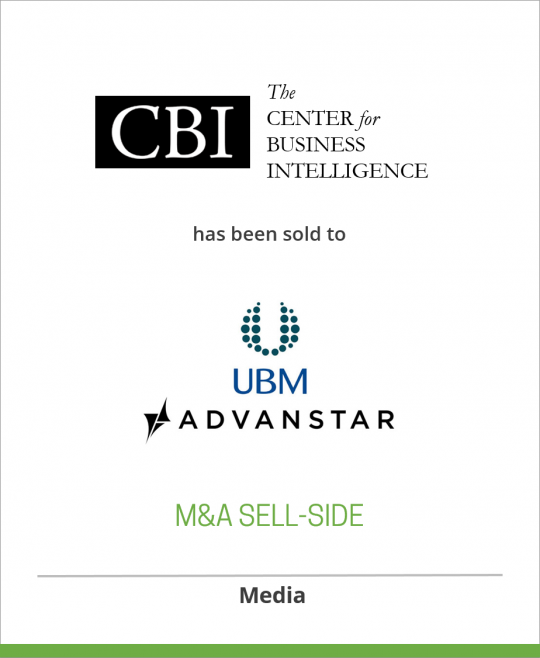 CBI Research, Inc. has been sold to Advanstar Communications Inc.