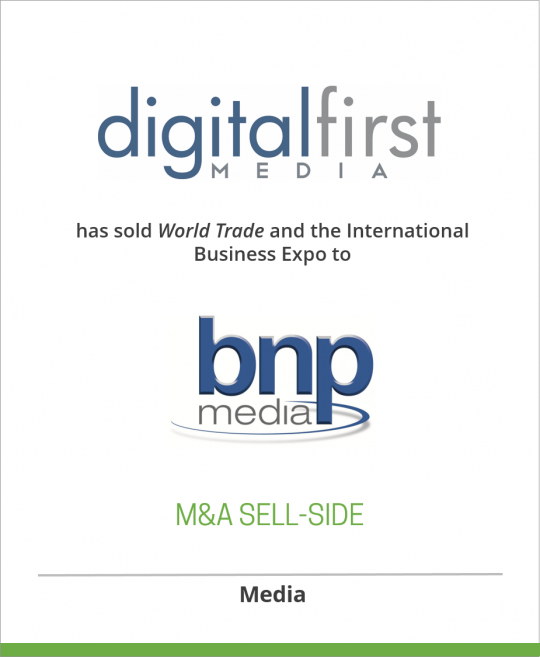 World Trade and the International Business Expo have been sold to Business News Publishing Co.