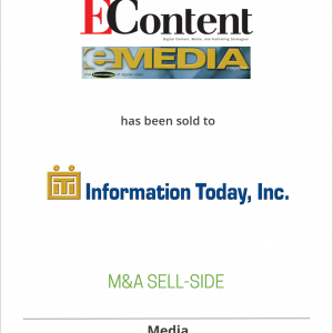 Online Inc., publisher of EContent and EMedia and operator of several trade shows, has been acquired by Information Today, Inc.