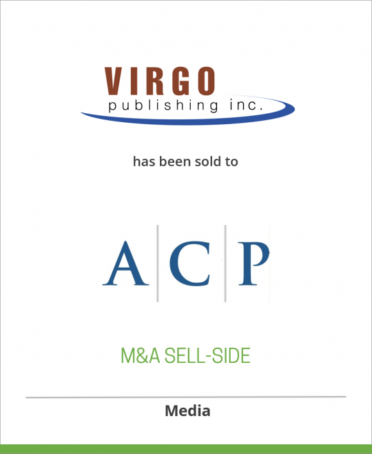 Virgo Publishing has been sold to Arlington Capital