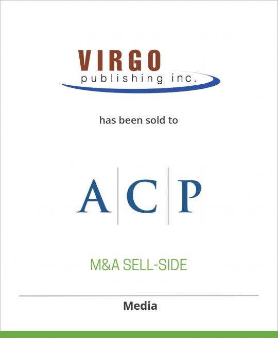 Virgo Publishing has been sold to Arlington Capital