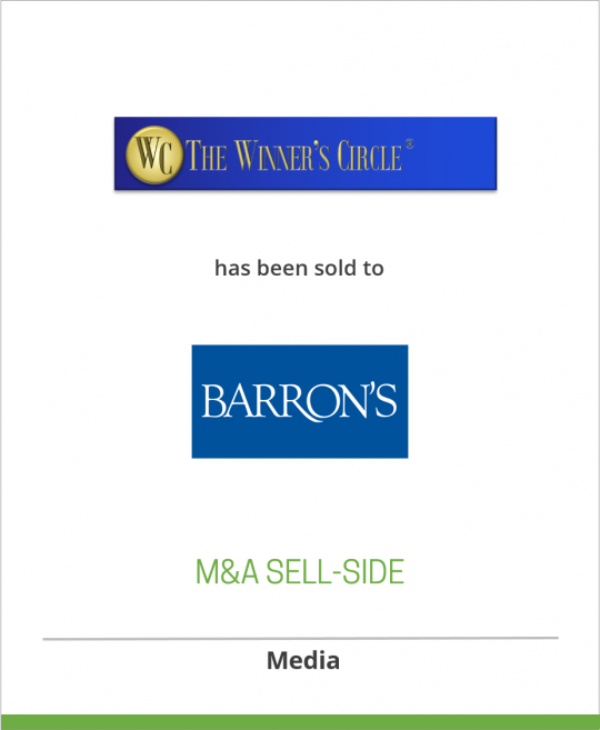 The Winner's Circle Organization has been sold to Barron's