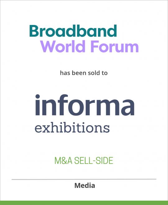 Broadband World Forum has been sold to Informa Telecoms & Media