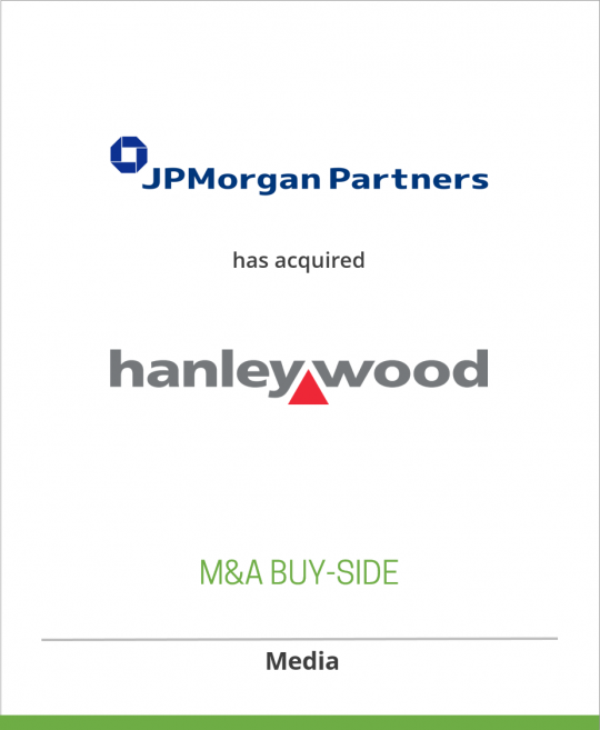 JPMorgan Partners has acquired Hanley Wood, LLC from Veronis Suhler Stevenson
