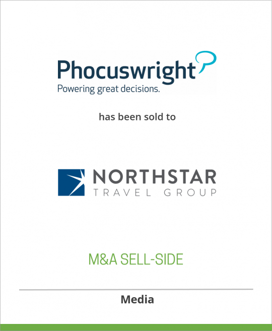 PhoCusWright Inc has been acquired by Northstar Travel Media