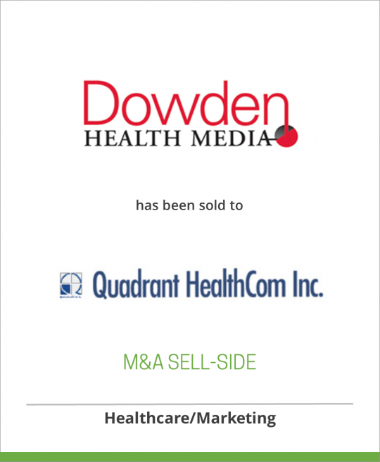 Lebhar-Friedman Inc has sold Dowden Professional Publications to Quadrant HealthCom Inc.