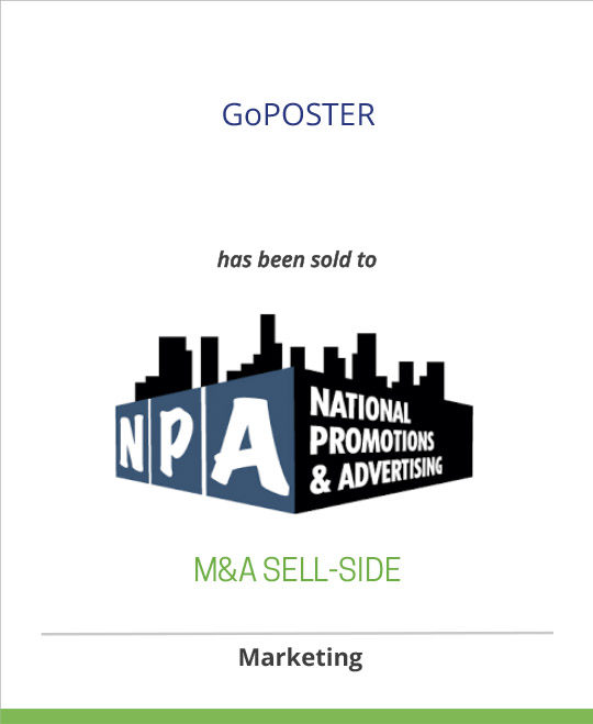 GoPOSTER has been sold to National Promotions & Advertising