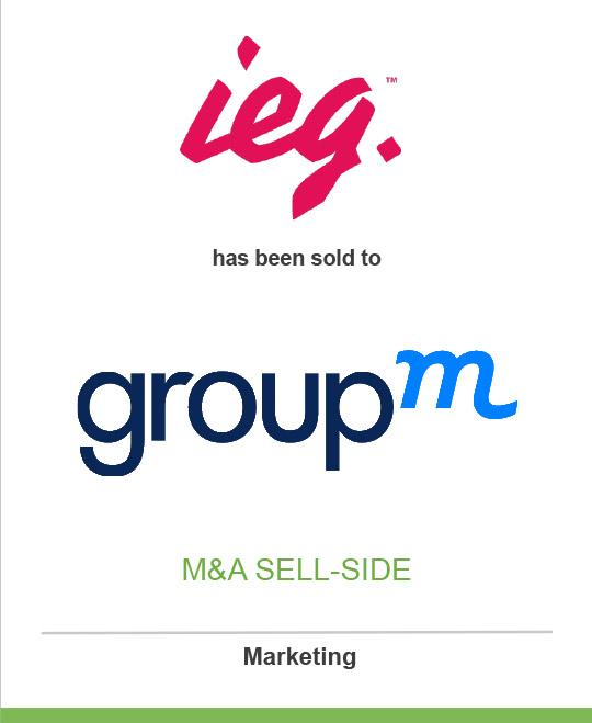 IEG Inc. has been sold to GroupM
