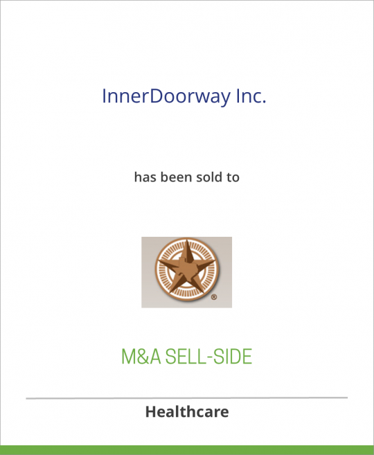 InnerDoorway, Inc. has sold an equity stake to First Capital Group of Texas III, L.P.