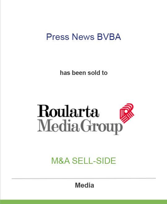 Press News BVBA has been sold to Roularta Media Group
