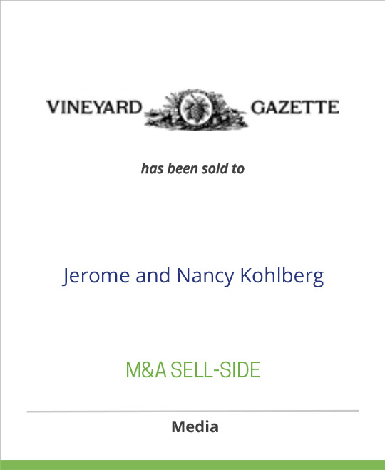 The Vineyard Gazett has been sold to Jerome and Nancy Kohlberg