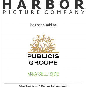 Harbor Picture Company has been sold to Publicis Groupe