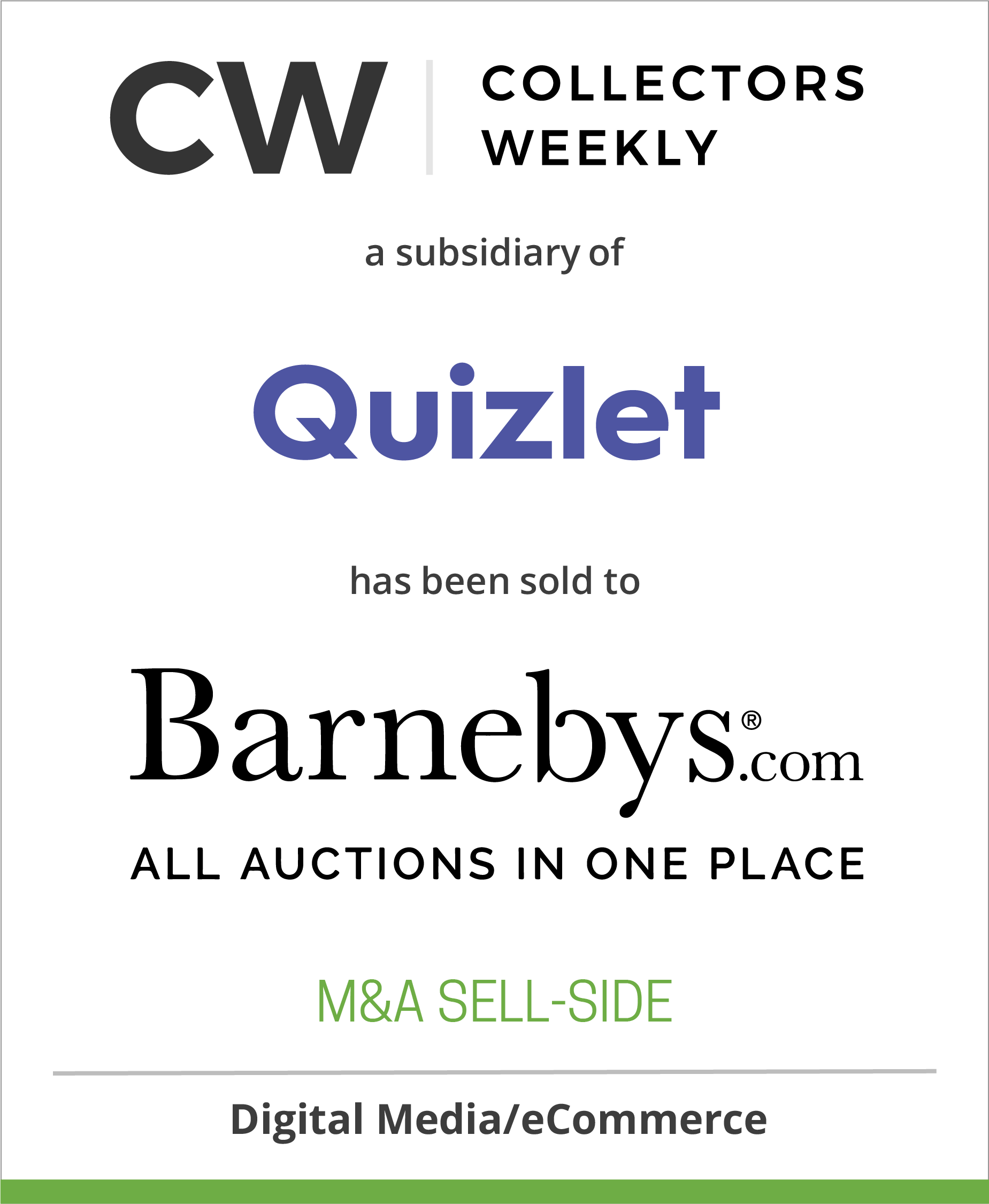 Collectors Weekly has been Acquired by Barnebys