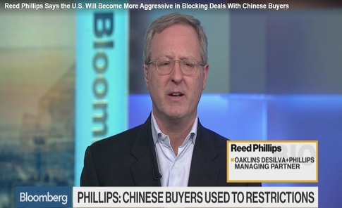 U.S. Will Become More Aggressive in Blocking Deals With Chinese Buyers – ODP's Reed Phillips Interviewed
