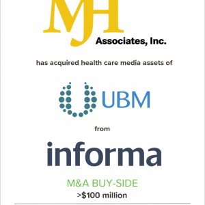 MJH Associates, Inc. has acquired assets from the UBM Life Sciences Group of Informa Plc