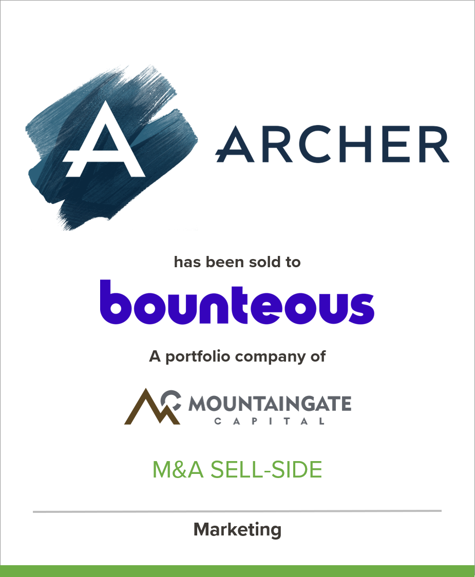The Archer Group has been acquired by Bounteous, a portfolio company of Mountaingate Capital