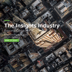 The Insights Industry Beyond Covid-19