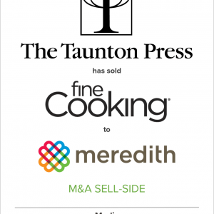 The Taunton Press has sold Fine Cooking to Meredith Corporation