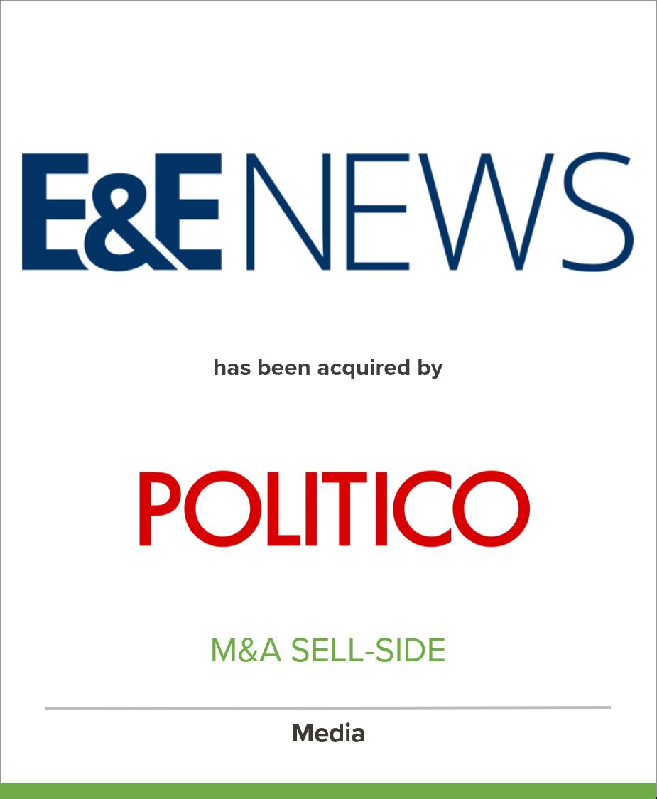 E&E News Acquired by Politico