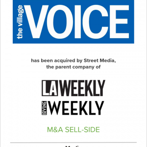 The Village Voice Acquired by Street Media