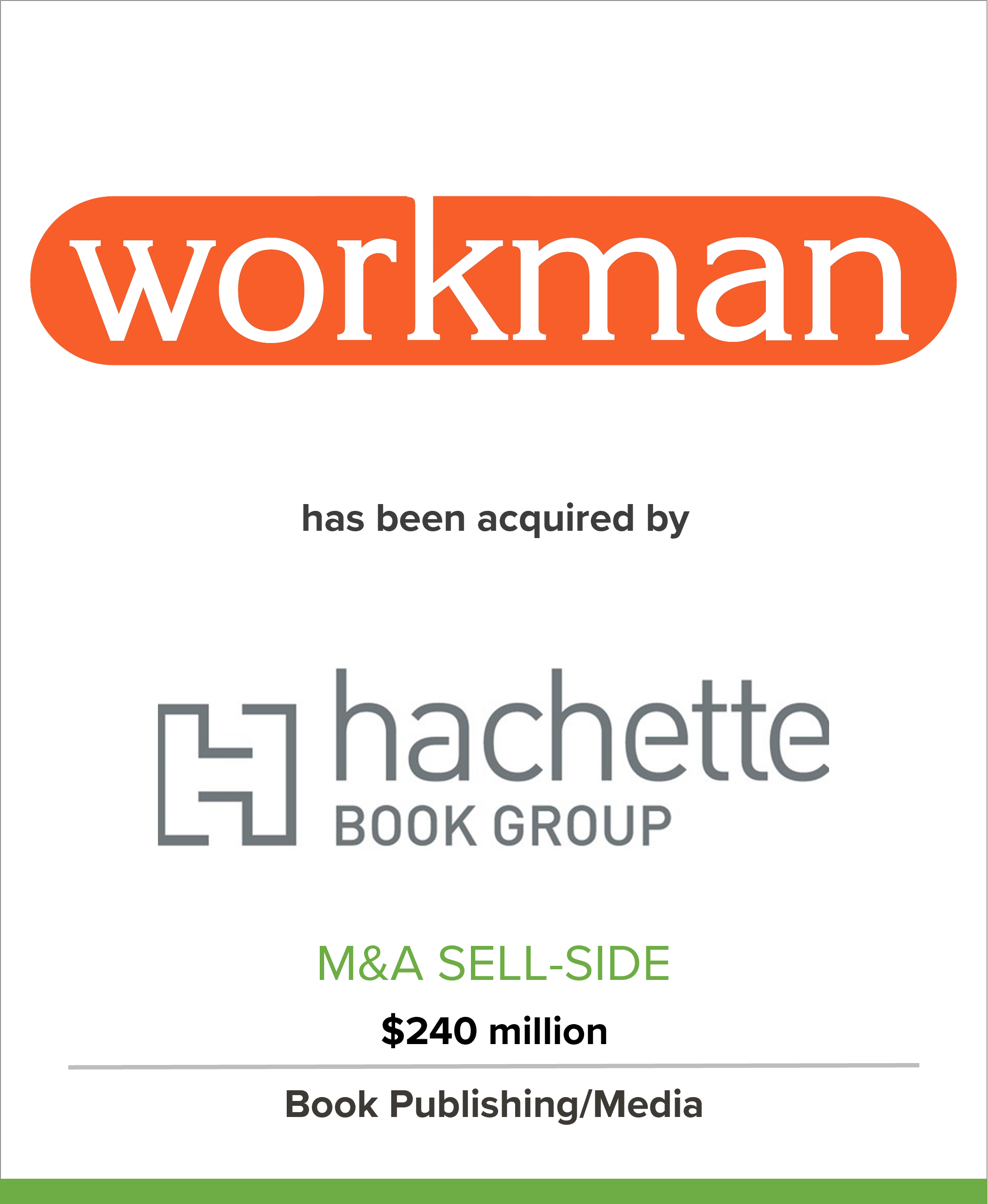 Workman Publishing Has Been Sold to Hachette Book Group