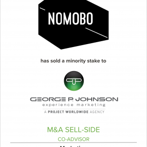 NOMOBO Has Sold A Significant Minority Stake to George P. Johnson